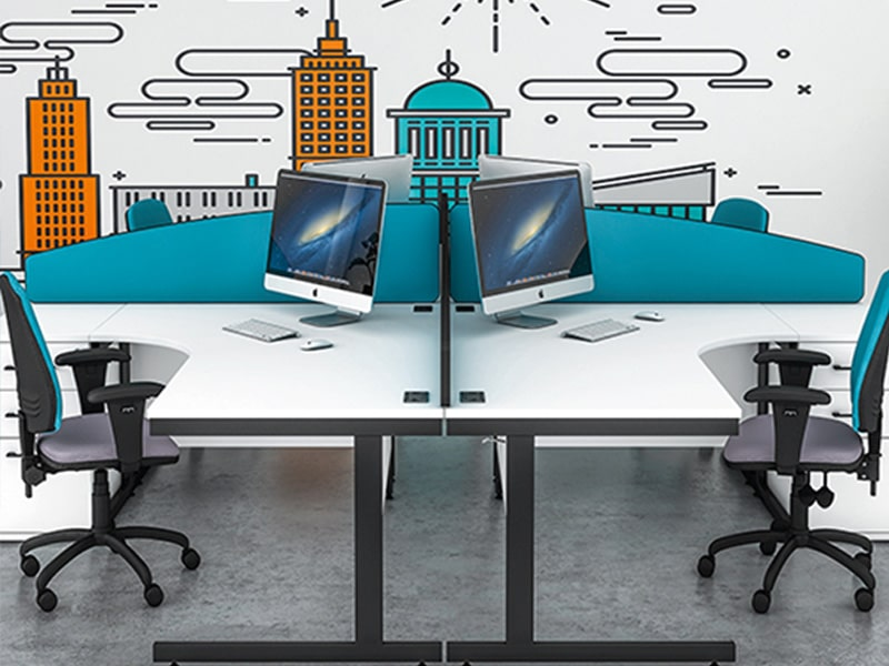 office screens and desk screen dividers