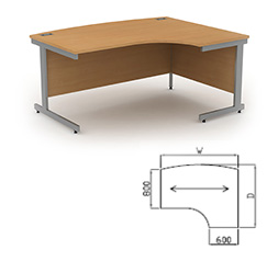 Bow Front Radial Workstation